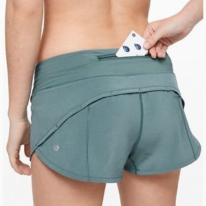 Lululemon Speed Up short aquatic green size 6